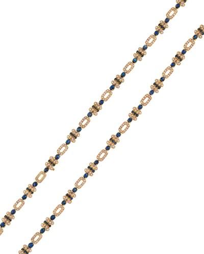 A sapphire and diamond longcha