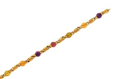 A gem-set 'Doppio Passo' brace