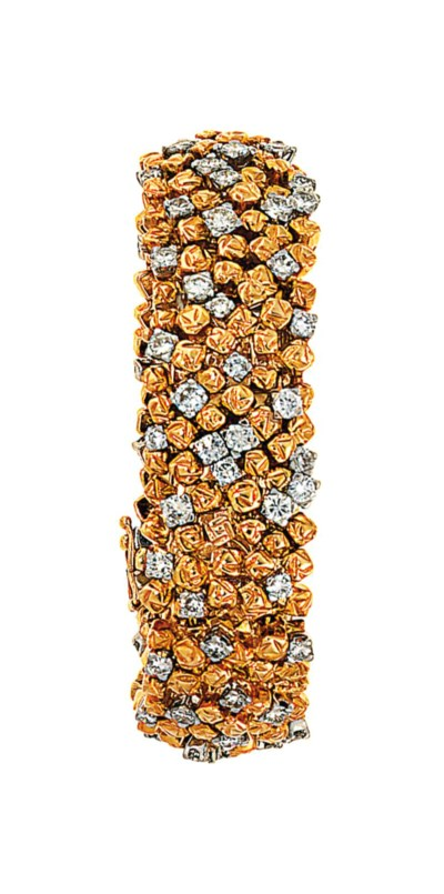 A diamond-set bracelet, by Tif