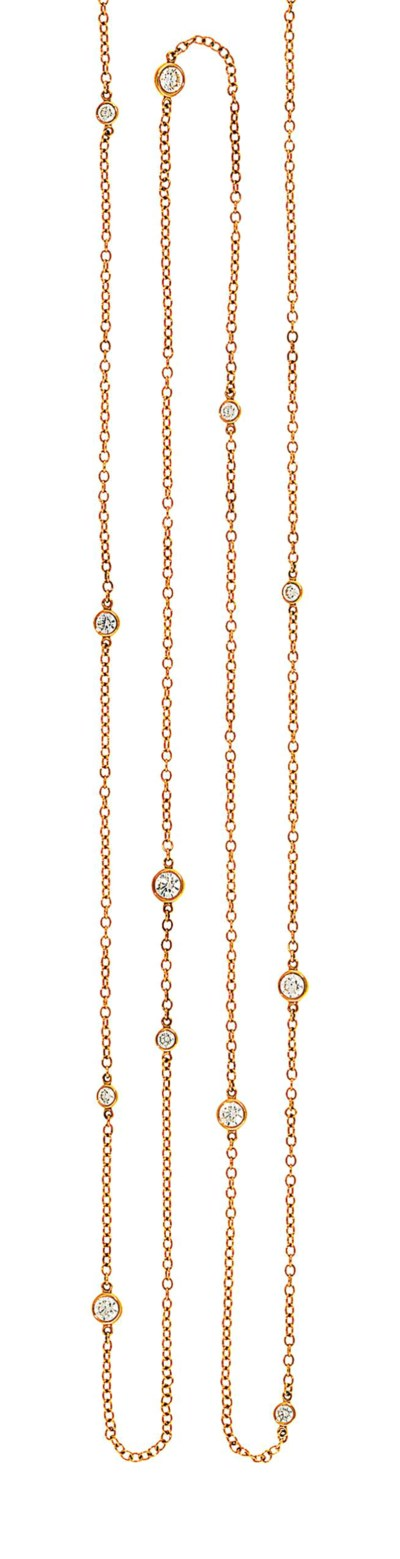 An 18ct gold 'Diamonds by the
