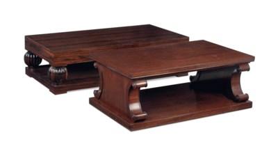 A MAHOGANY LOW TABLE