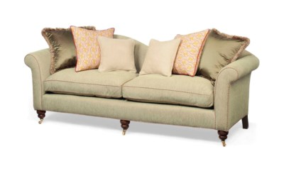 A CAMEL-BACK CHESTERFIELD SOFA