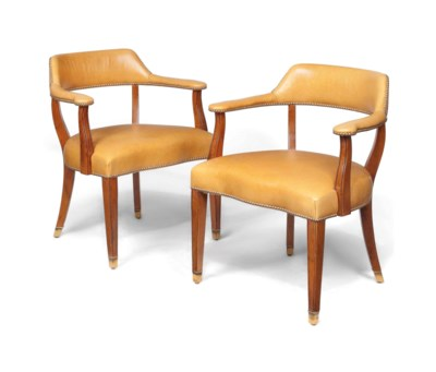 A PAIR OF OAK DESK CHAIRS