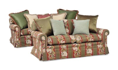A PAIR OF GEORGE SMITH SOFAS