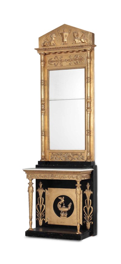 A SWEDISH EMPIRE GILTWOOD AND