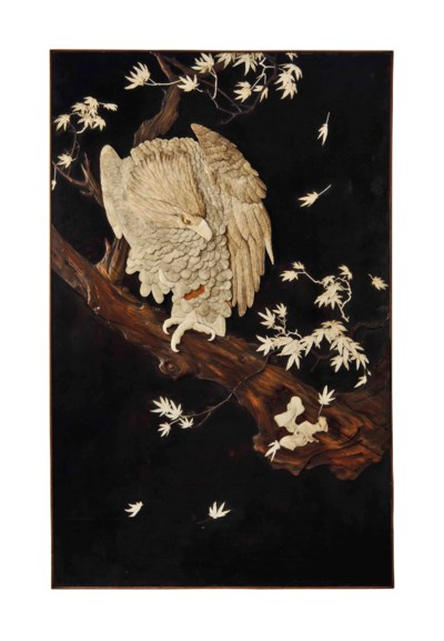 A JAPANESE LACQUER, IVORY, BON
