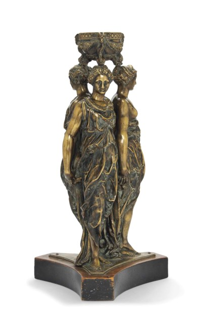 A FRENCH BRONZE GROUP OF THE T
