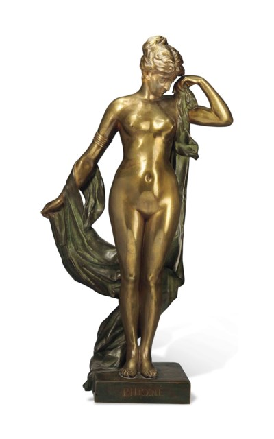 A LARGE FRENCH BRONZE FIGURE E