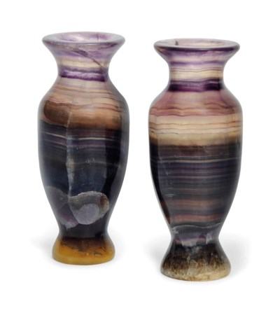 A PAIR OF CONTINENTAL AMETHYST
