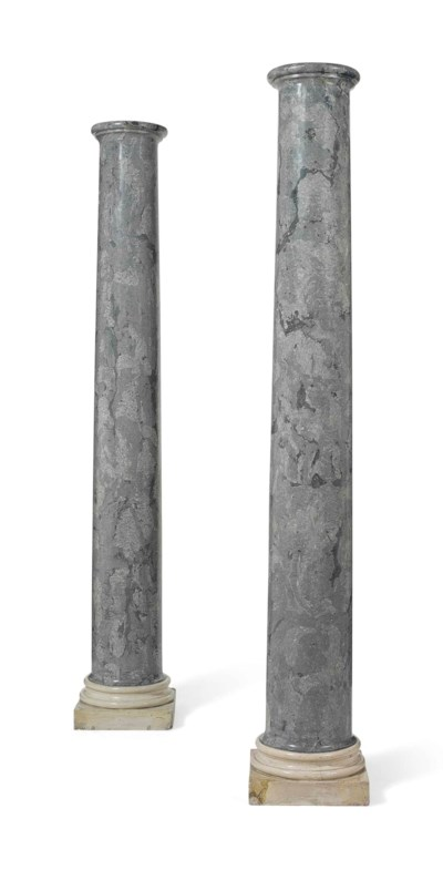A PAIR OF GREY VEINED SCAGLIOL