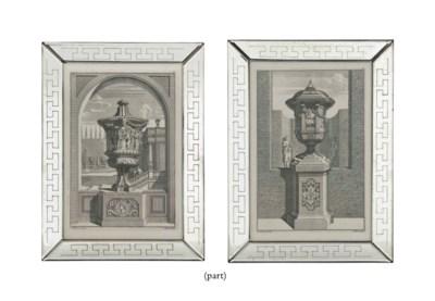 TEN DUTCH ENGRAVINGS OF ARCHIT