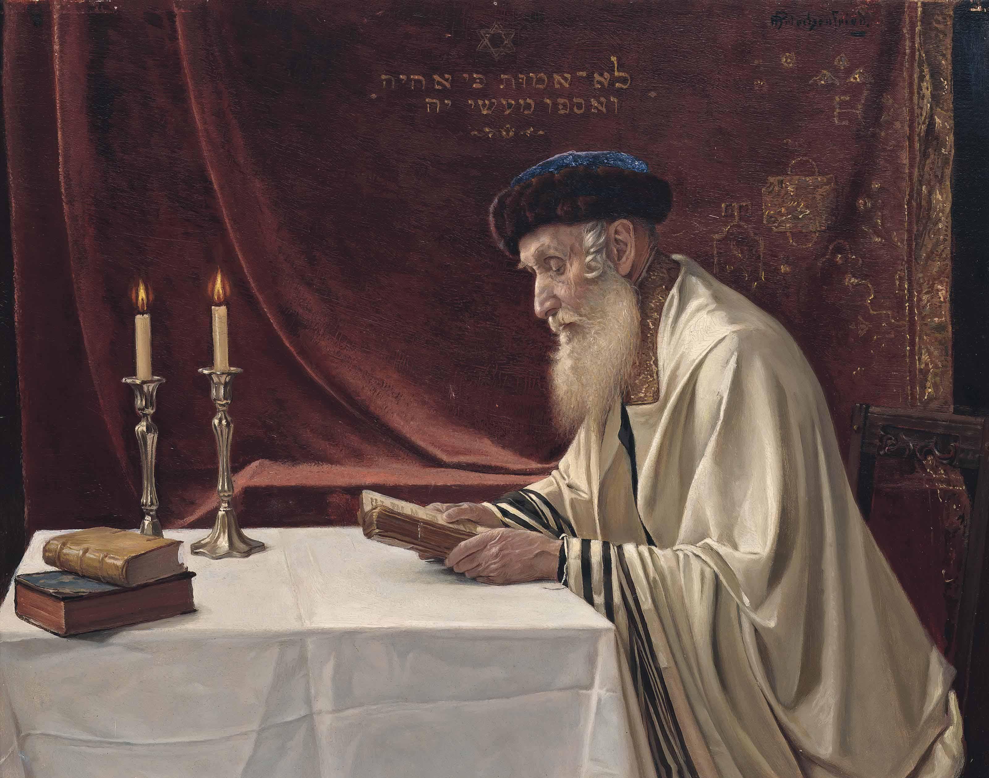 A Rabbi reading