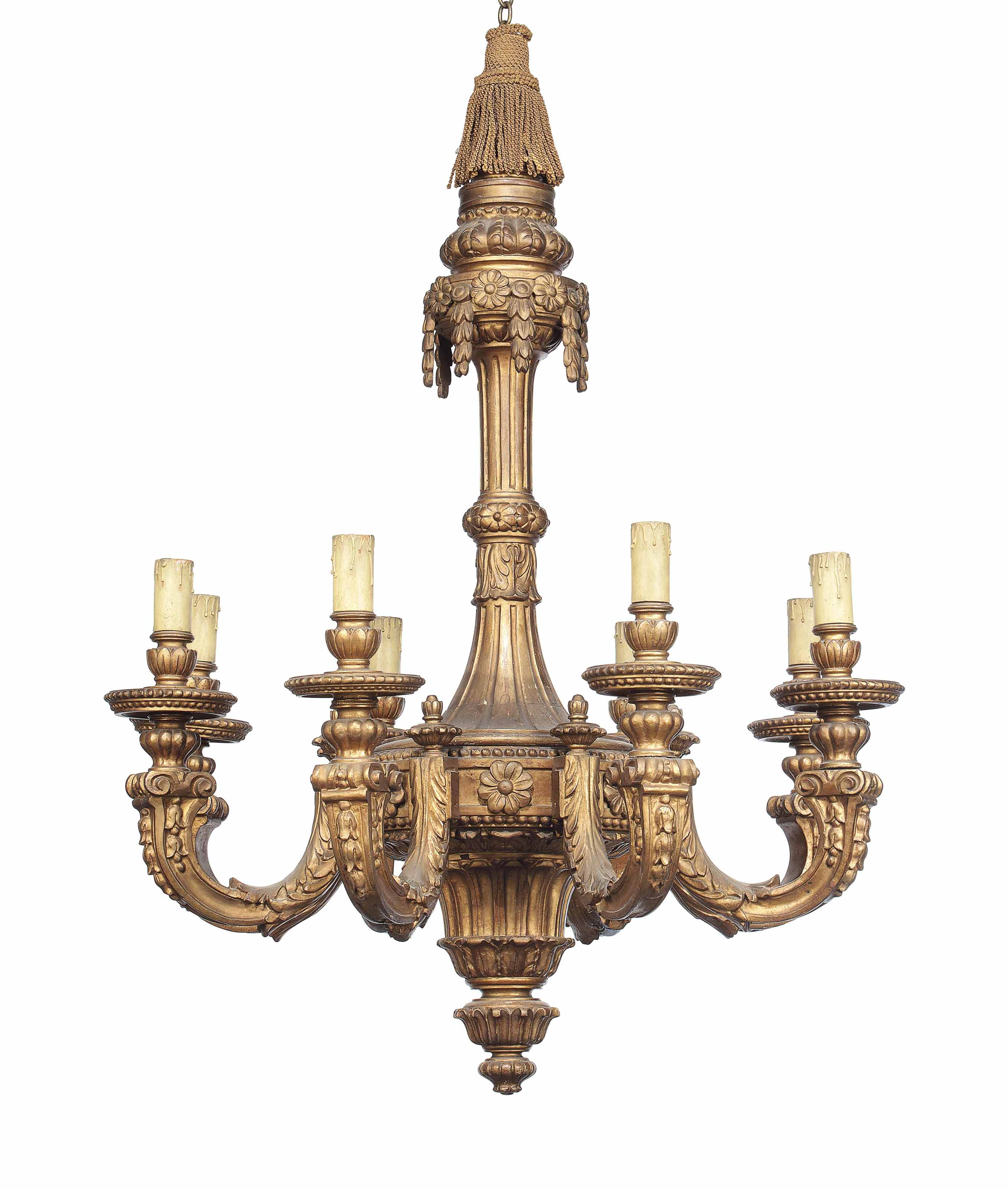 A REGENCE STYLE GILTWOOD EIGHT