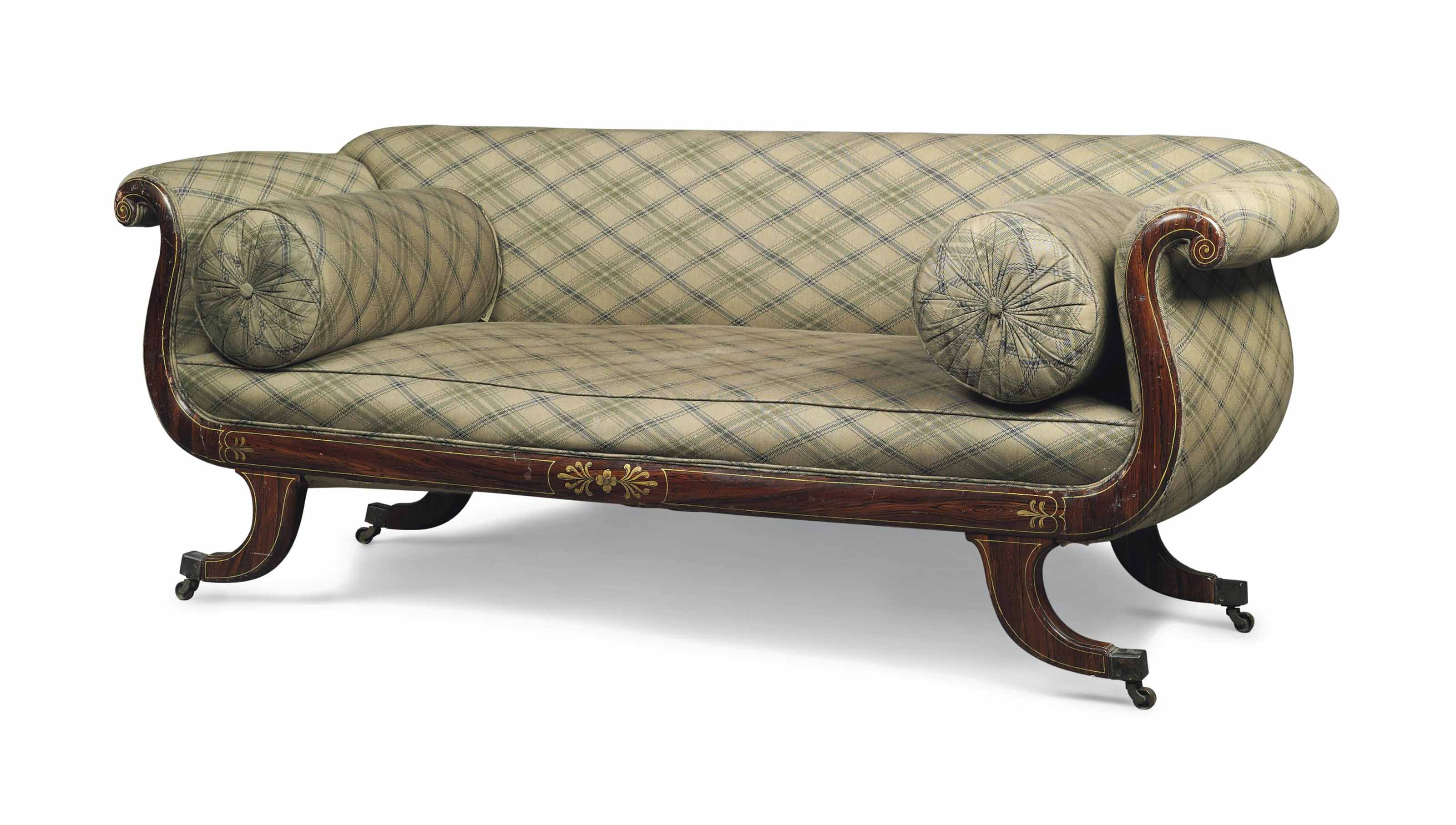 A REGENCY FAUX-ROSEWOOD AND PA