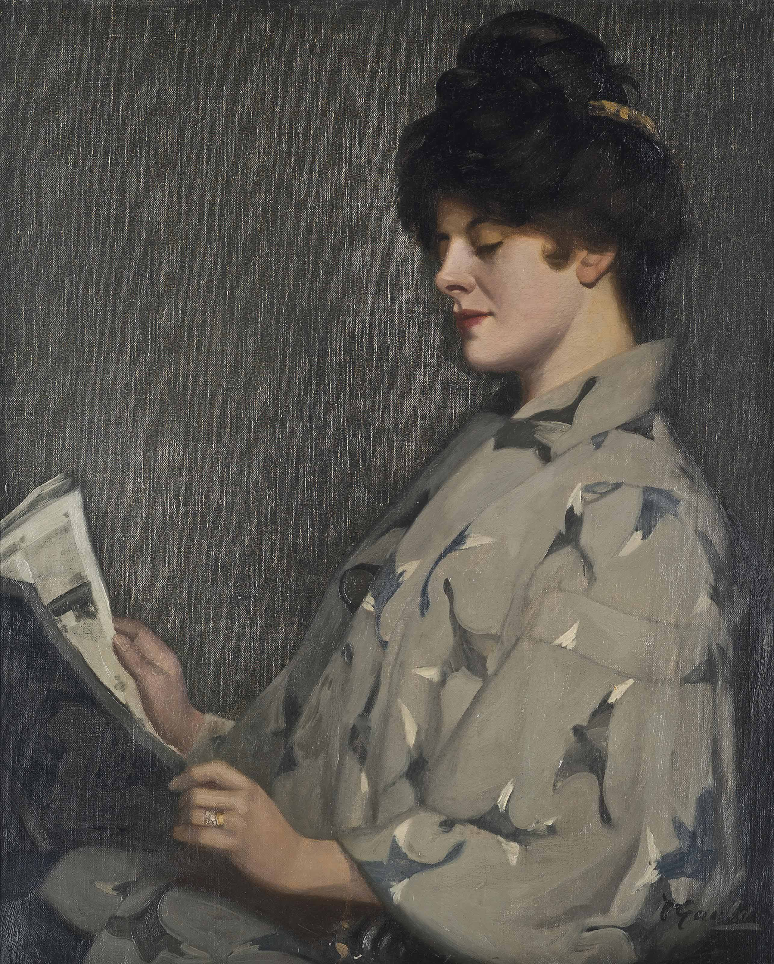 Portrait of a lady, thought to be Irene Vanburgh