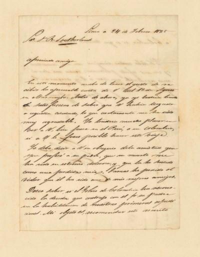 BOLÍVAR, Simón (1783-1830). Le