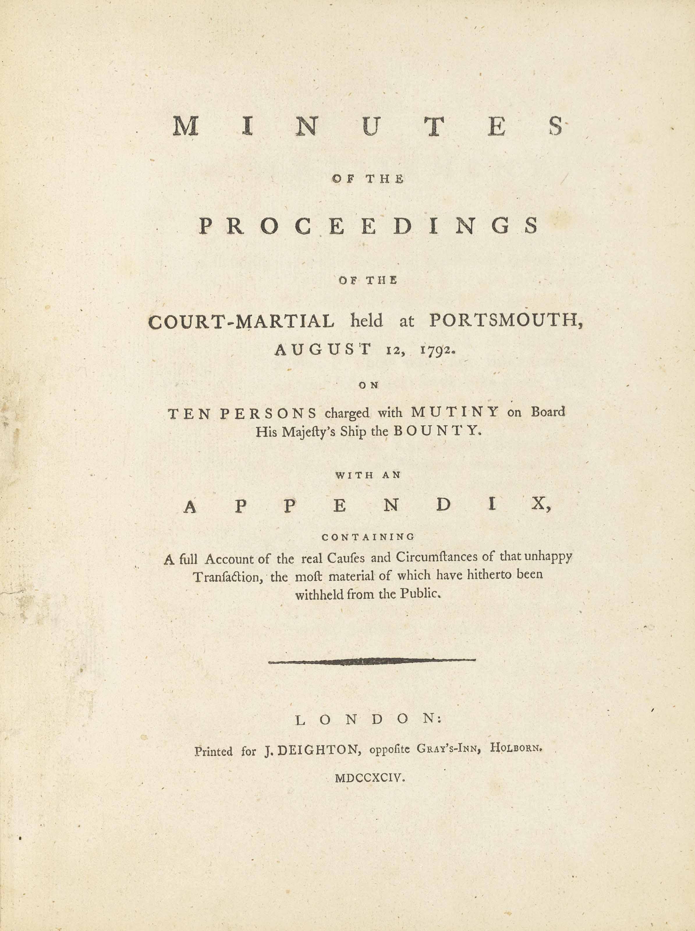 BLIGH, William (1754-1817) --