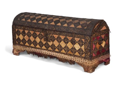 A SPANISH PINE DOMED CHEST