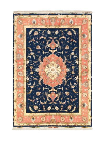 A very fine part silk Tabriz l