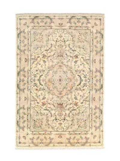 A very fine part silk Tabriz c
