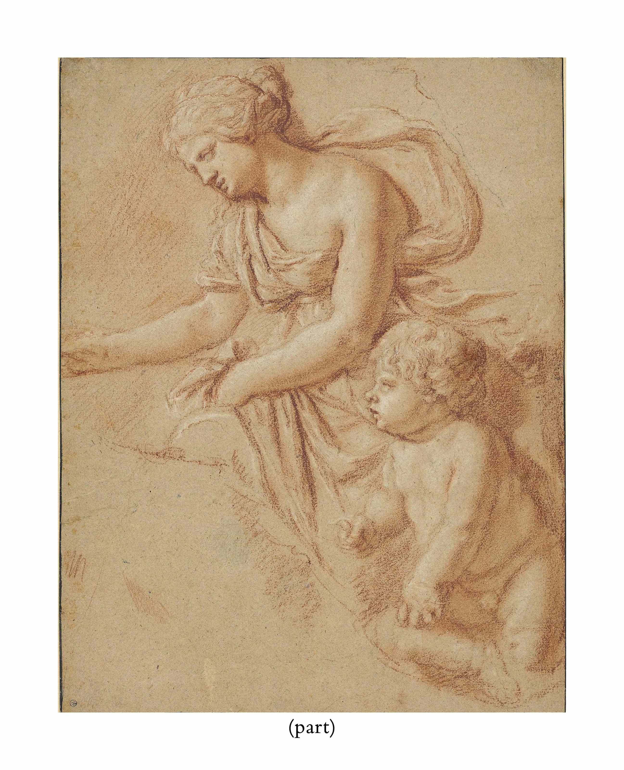 A woman with a child, after an antique relief