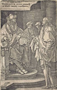 Absalom inviting David and his Brothers to a Feast, from: The Story of Amnon and Tamar