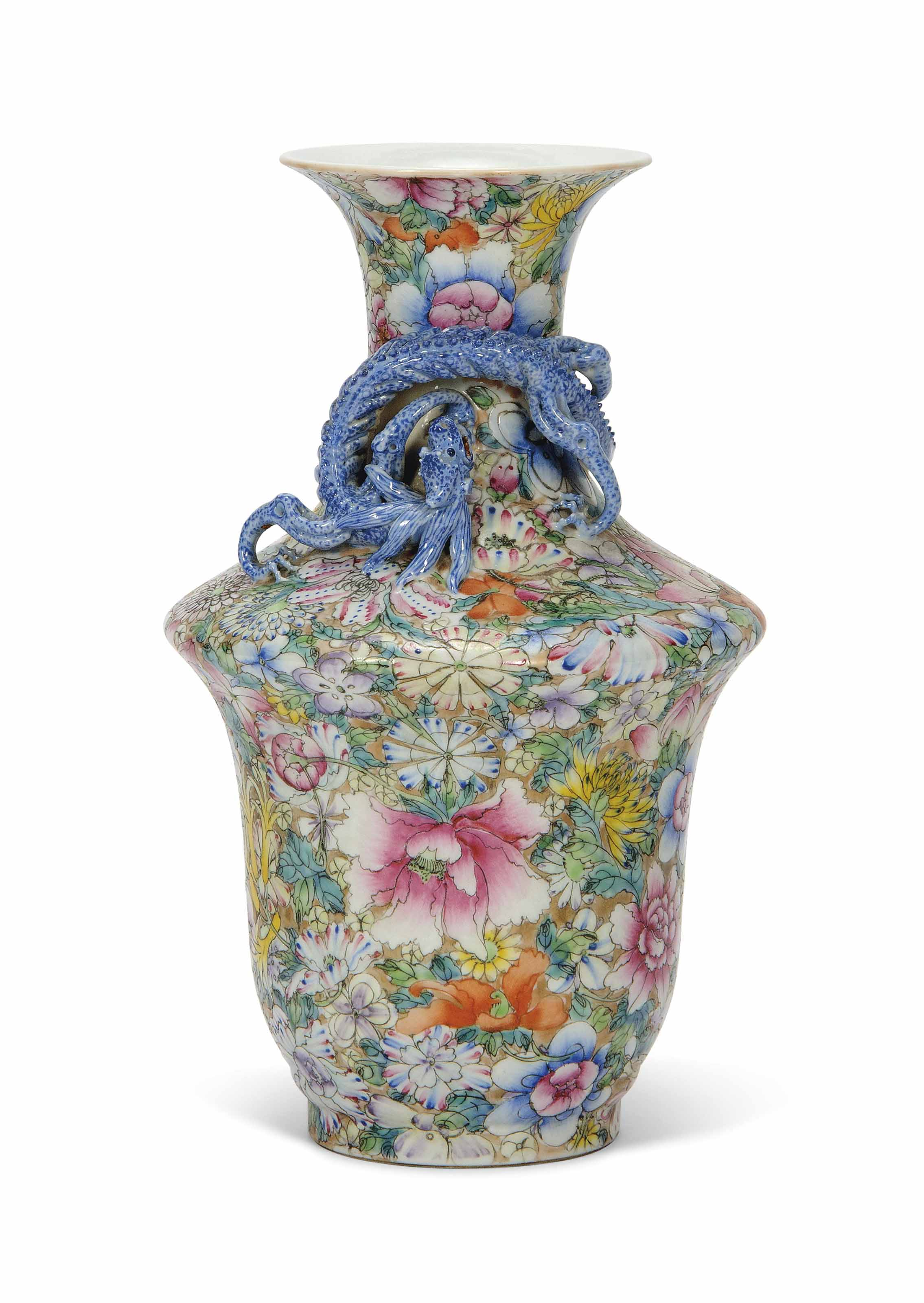A CHINESE MILLEFLEURS VASE