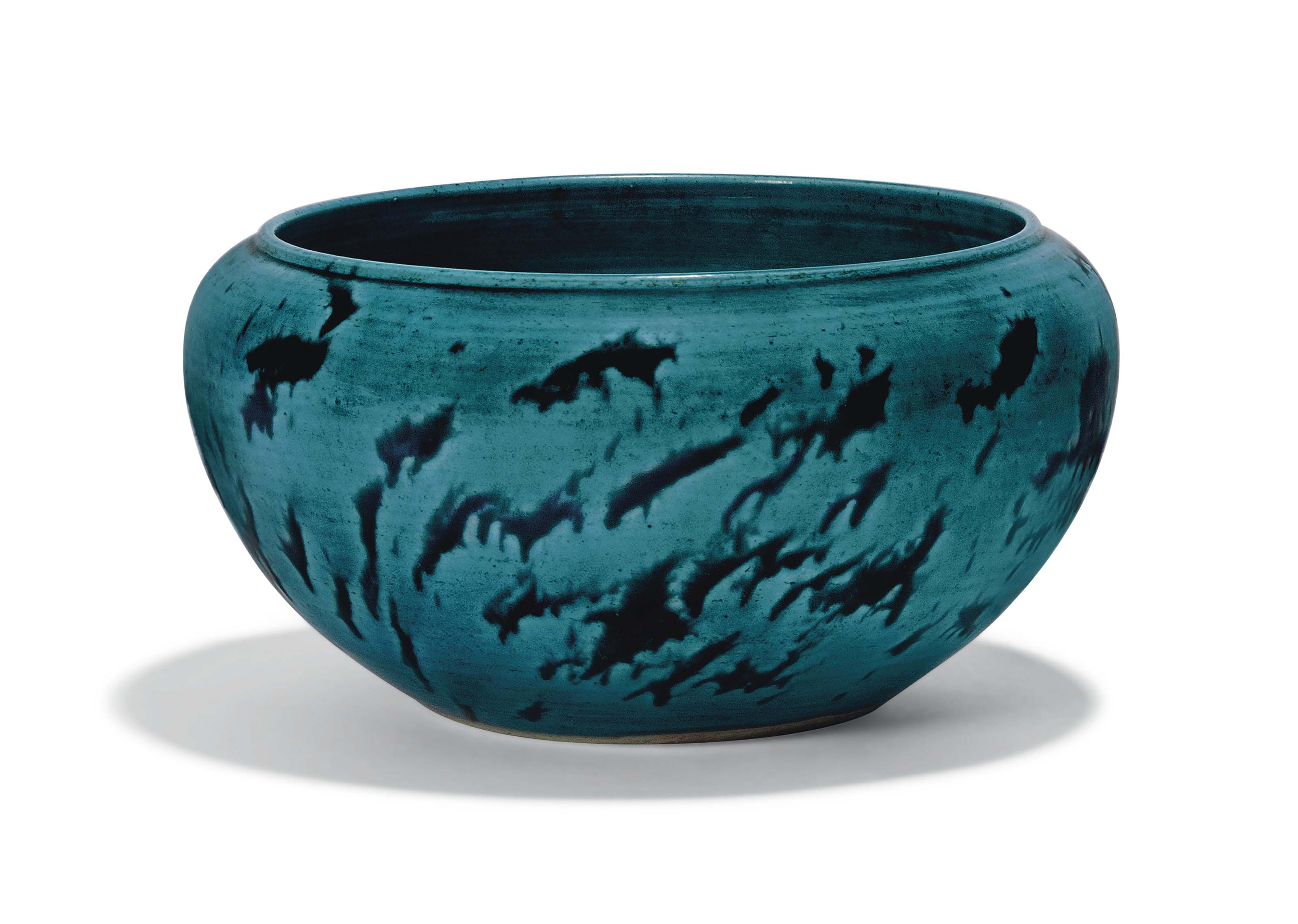 A LARGE CHINESE TURQUOISE AND