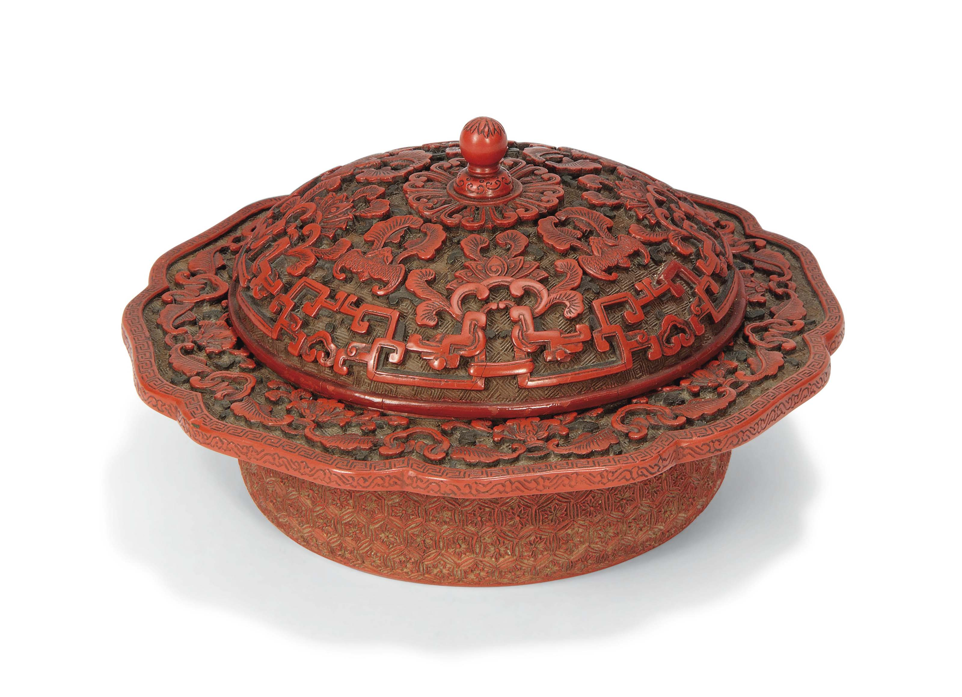 A CHINESE TWO-COLOUR LACQUER B