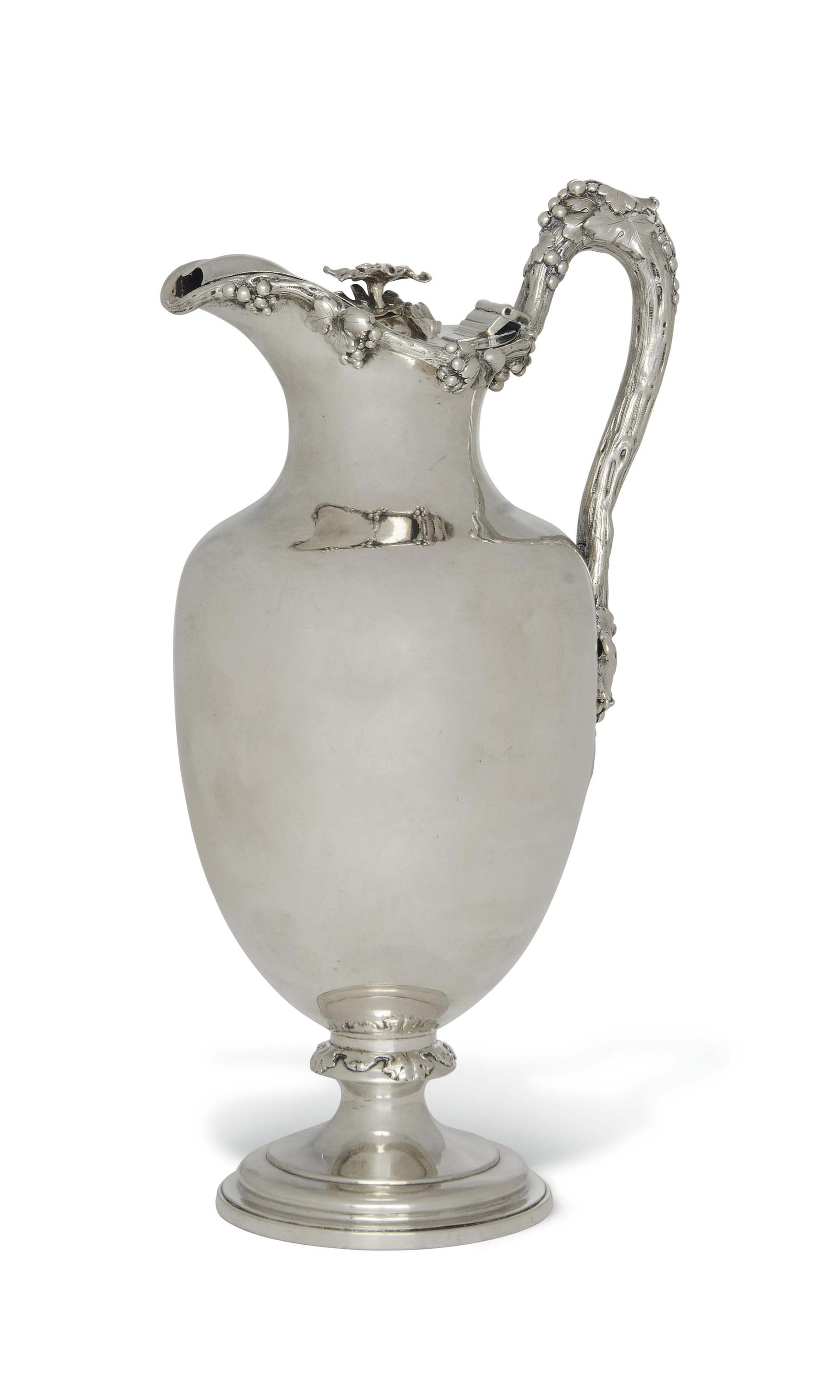 AN EARLY VICTORIAN SILVER EWER