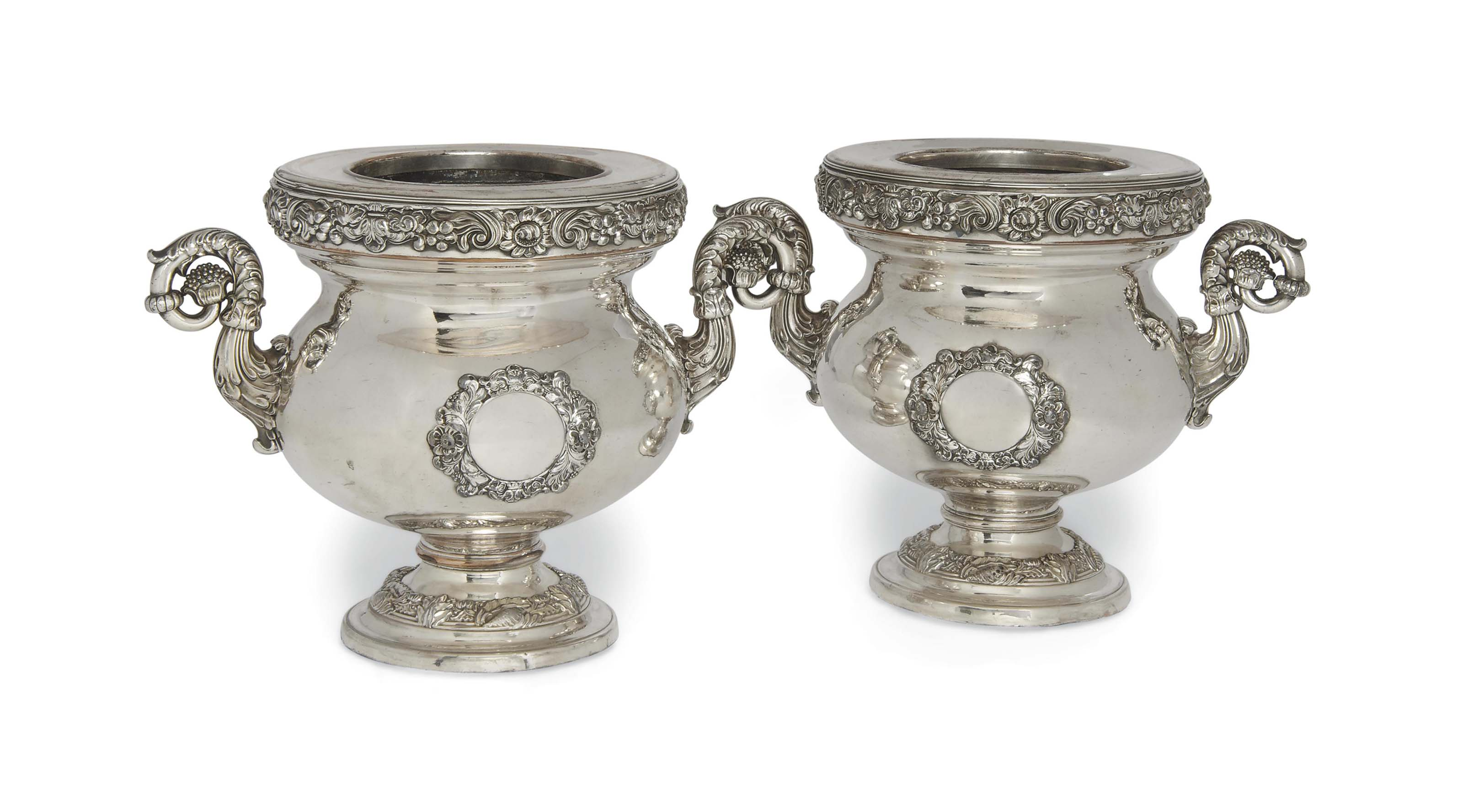 A PAIR OF OLD SHEFFIELD PLATE