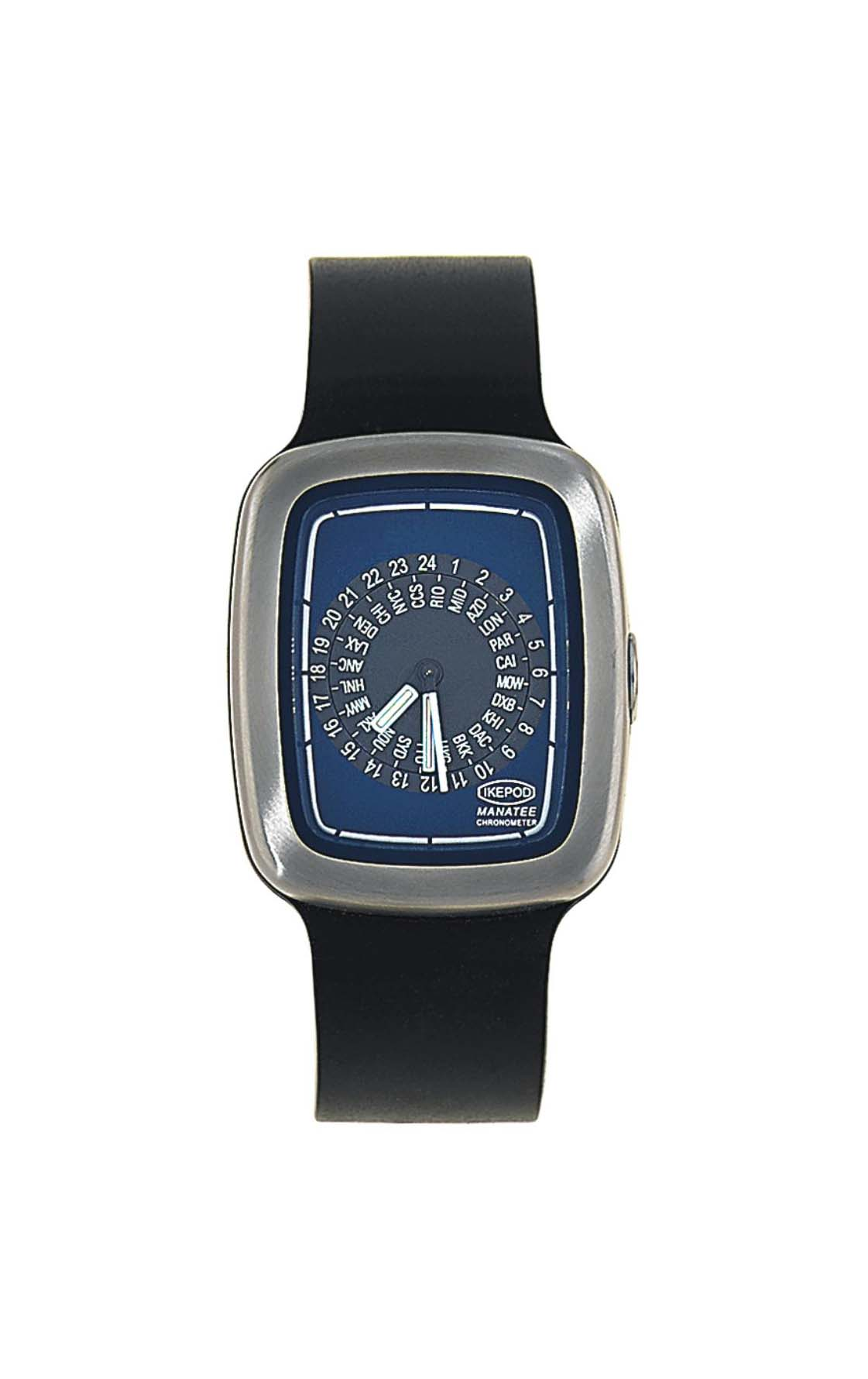 A stainless steel automatic world time 'Manatee' limited edition wristwatch, by Ikepod