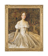 Portrait of Elizabeth Witts, daughter of Lieutenant-General Frederick Vavasour Broom Witts (1889-1969)