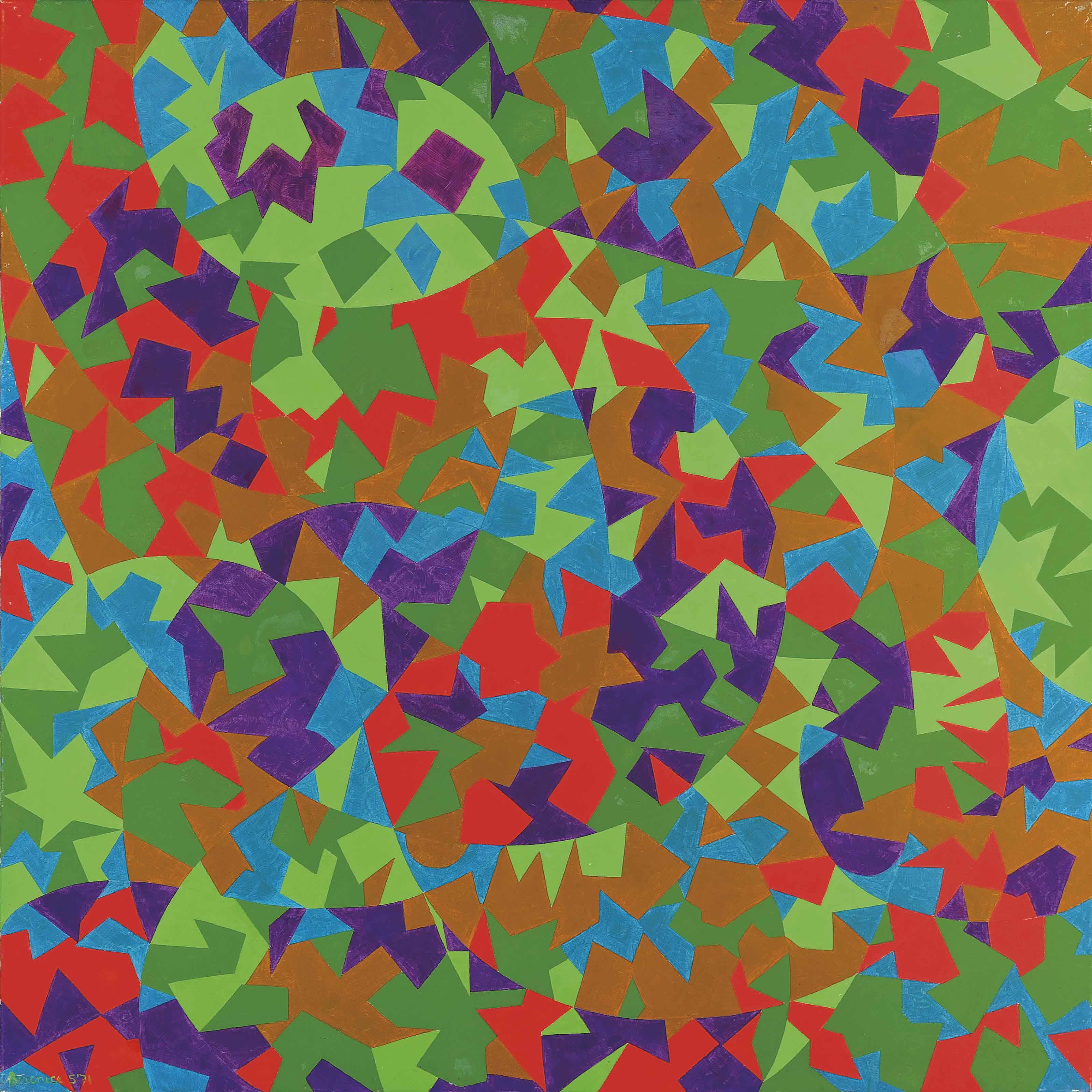 Leaves Orbiting
