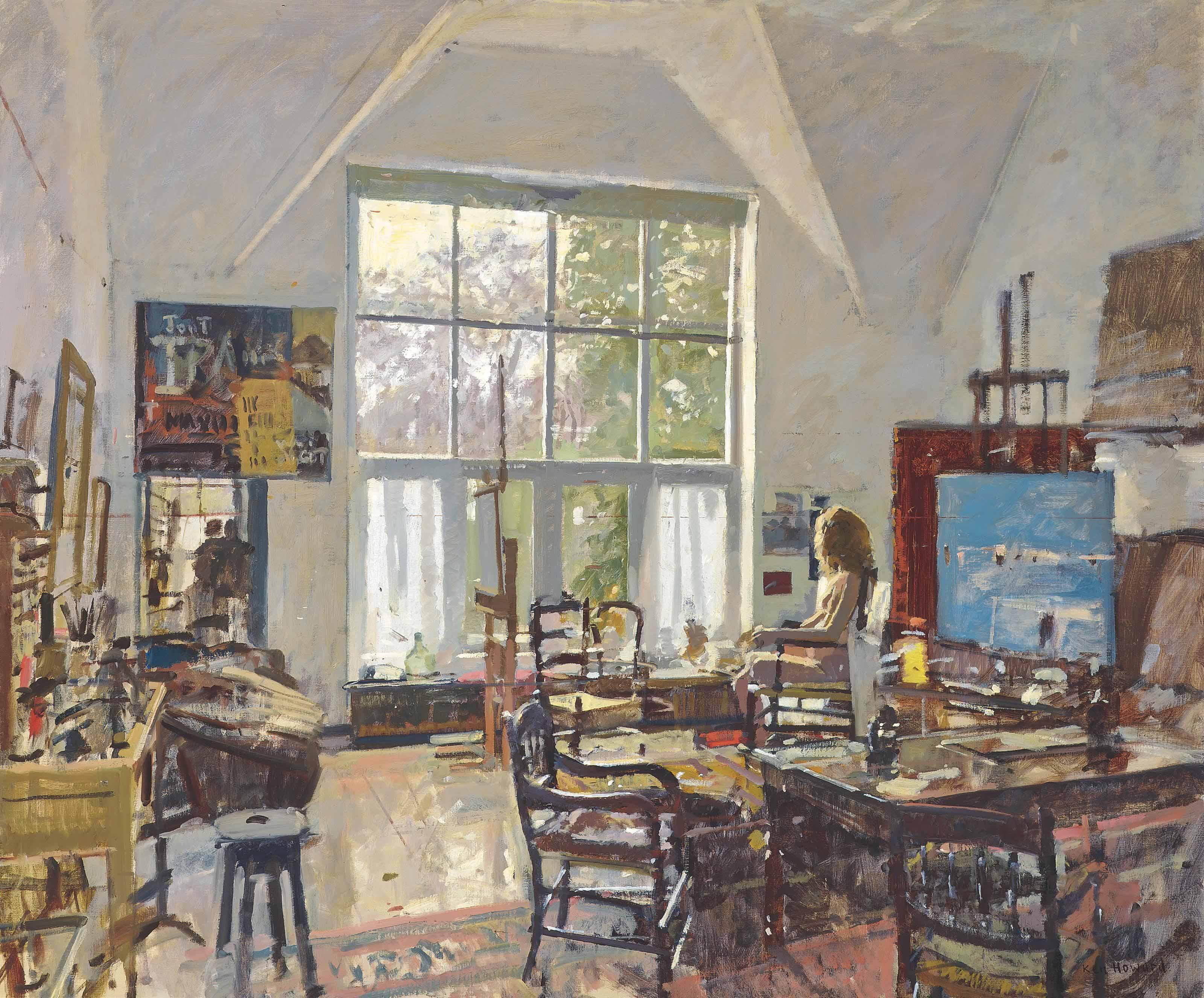 Ken Howard, R.A. (b. 1932) , Nude in the Studio | Christies