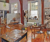 Ken Howard, R.A. (b. 1932), Nude in a studio | Christies