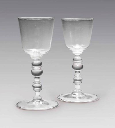 TWO GERMAN OR BOHEMIAN GLASS G