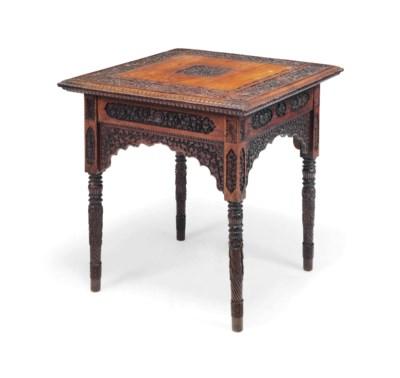 AN ANGLO-INDIAN HARDWOOD TABLE