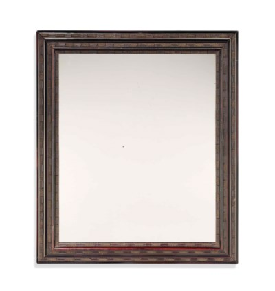 A DUTCH EBONISED PICTURE FRAME