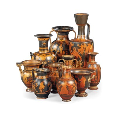 A GROUP OF TEN TERRACOTTA 'ATT