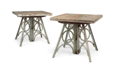 A PAIR OF FRENCH PAINTED PINE