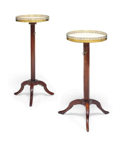 TWO SIMILAR LOUIS XVI MAHOGANY