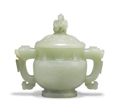 A CHINESE PALE CELADON JADE CE