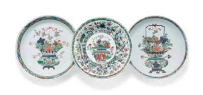 THREE LARGE CHINESE FAMILLE VE