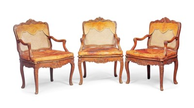 A SET OF THREE EARLY LOUIS XV