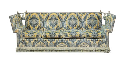 A LARGE KNOLE FOUR-SEAT SOFA