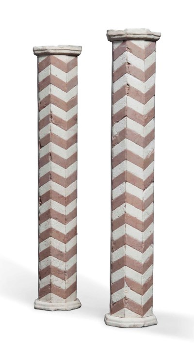 A PAIR OF VERONA MARBLE AND WH