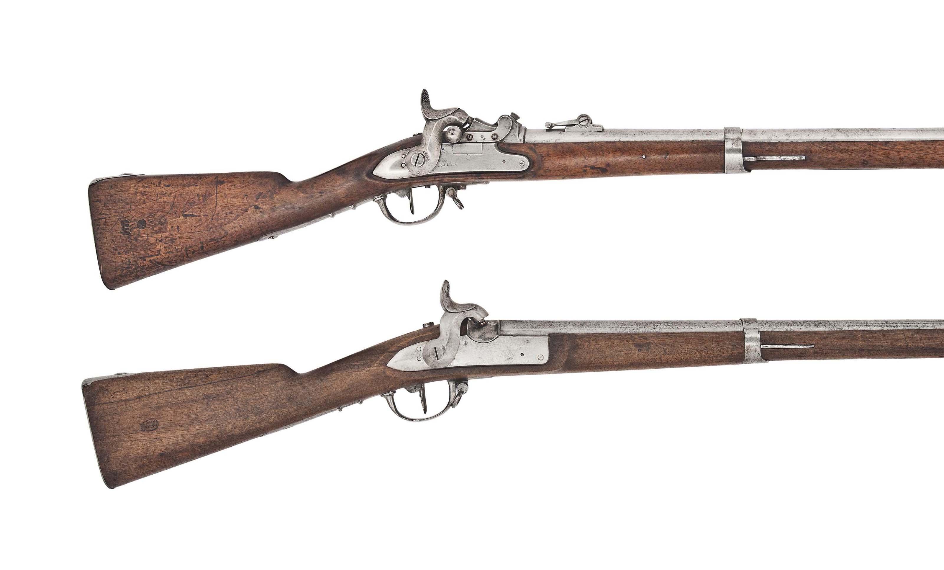 A SWISS 18mm (RIMFIRE) 'MODEL 1842/59/67' MILLBANK AMSLER CONVERSION RIFLED MUSKET