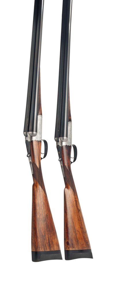 A PAIR OF 12-BORE 1897 PATENT