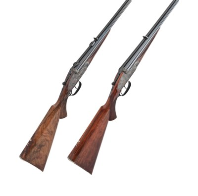 A FINE CASED PAIR OF 8X57mmR S